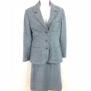Vintage Women's Unbranded skirtsuit gray L